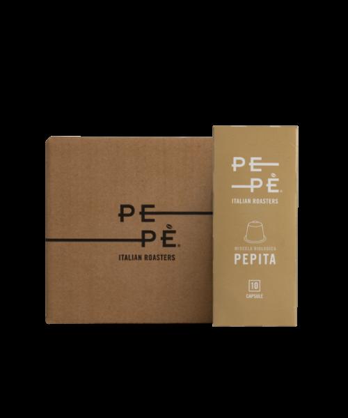 Caffè Pepè Pepita in capsule, 10 blister da 10 capsule