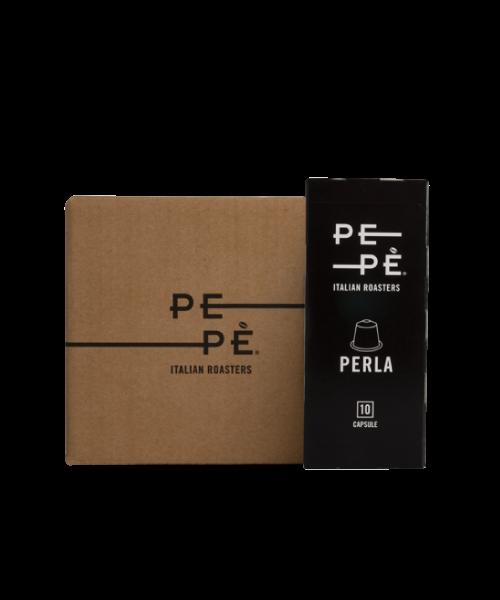 Caffè Pepè Perla in capsule, 10 blister da 10 capsule
